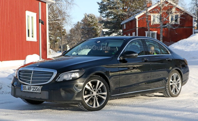 Facelifted 2019 mercedes benz c class spied looking like a for Looking for used mercedes benz