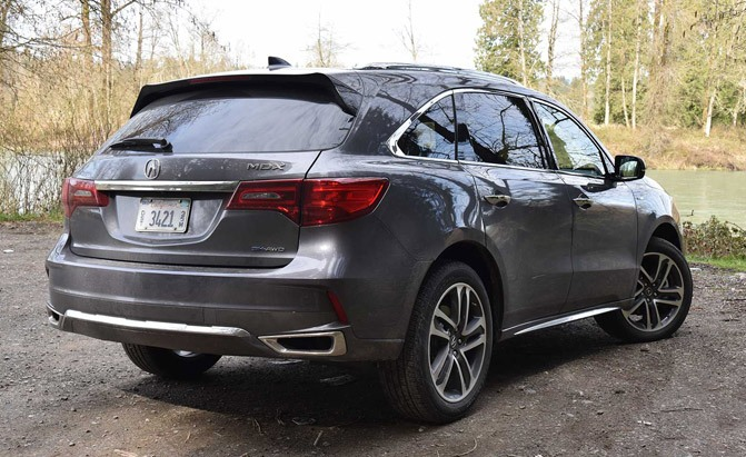 2017 Acura Mdx Sport Hybrid Rear Three Quarter