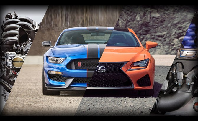 Lexus RC F or Ford Shelby GT350 Mustang