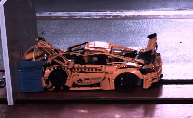 Watch a LEGO Porsche 911 GT3 RS Undergo a Crash Test ...