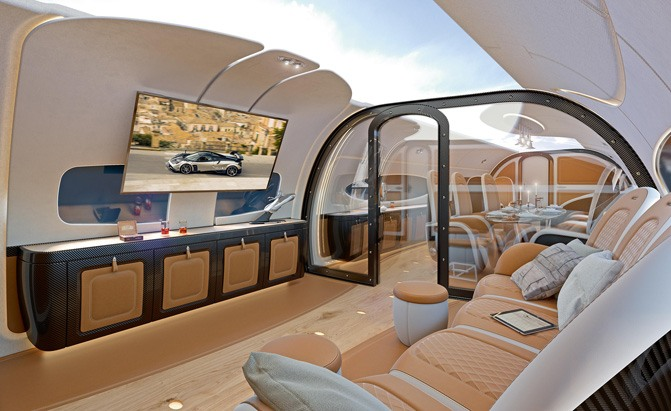 Jet Interior Design Pagani Designs A Private Jet Interior And The Result Is Exactly .