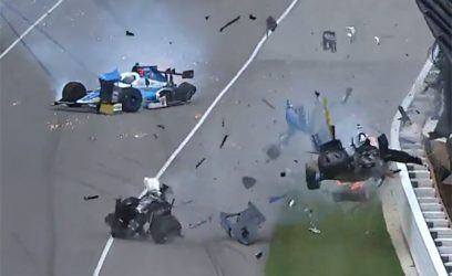 Watch the Scariest Crash of the Indy 500
