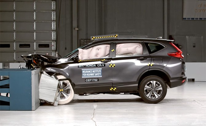 Honda leads the way for safest cars of the past 11 years for Honda crv crash test
