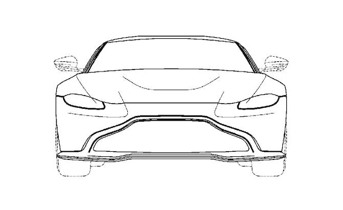 patent filing could reveal design for next aston martin