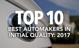 Top 10 Best Automakers in Initial Quality: 2017