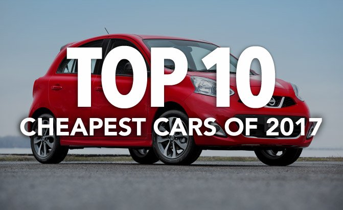 top 10 cheapest cars of 2017