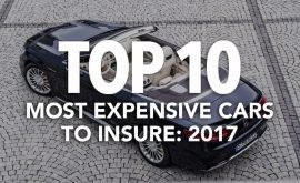Top 10 Most Expensive Cars to Insure: 2017