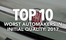 Top 10 Worst Automakers in Initial Quality: 2017