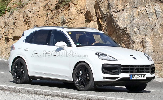 2018 Porsche Cayenne Smiles for the Camera Wearing All White » AutoGuide.com News