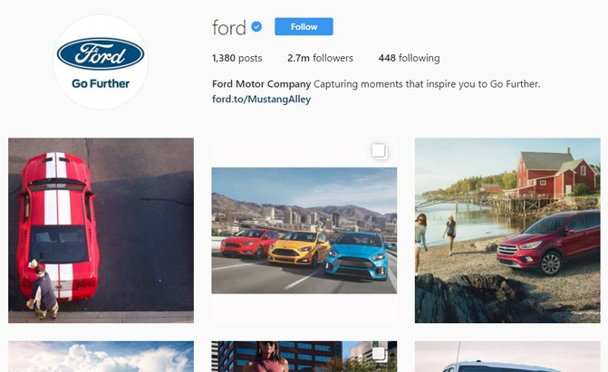 ford instagram page