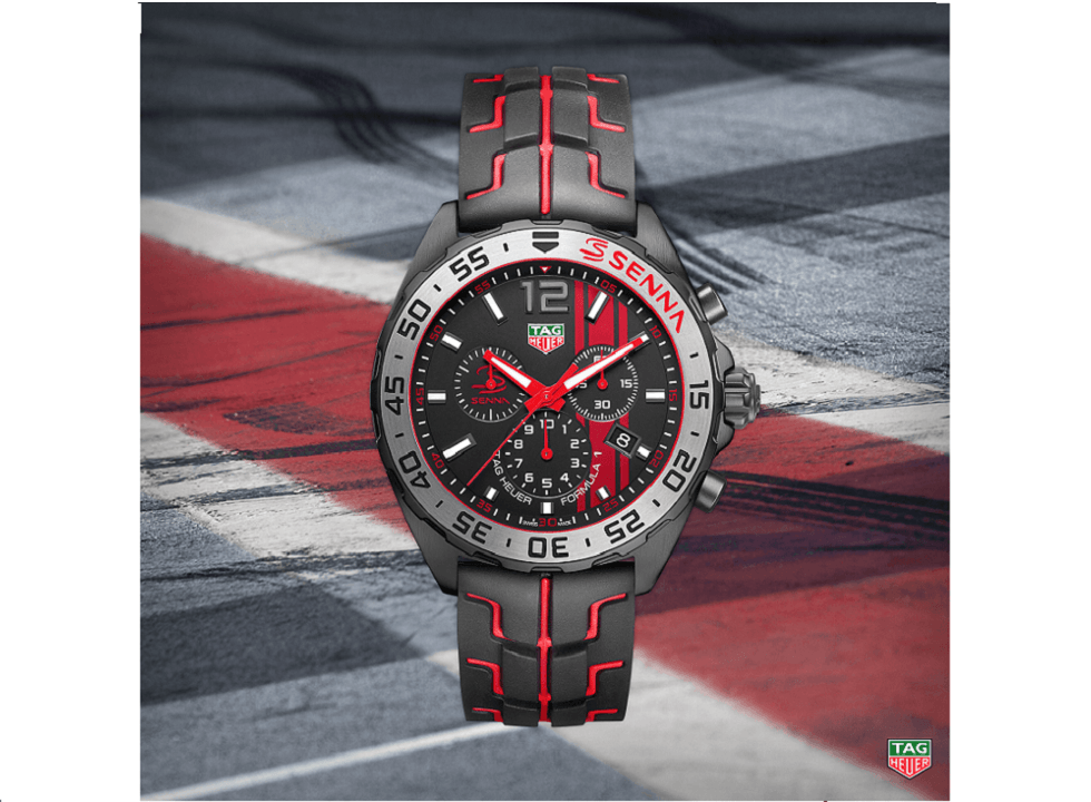 tag heuer unveils 3 ayrton senna special edition watches. Black Bedroom Furniture Sets. Home Design Ideas