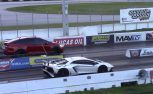 Watch a Tesla Model X Beat an Aventador SV in the Quarter Mile