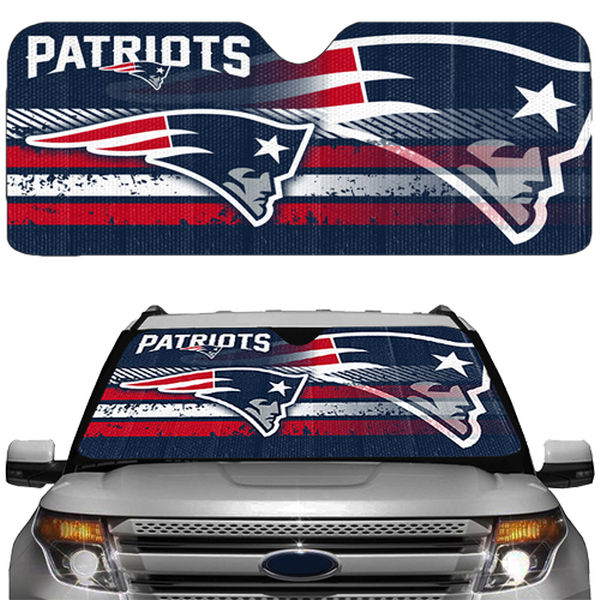 The Best NFL Car Accessories include the new england patriots sun shade
