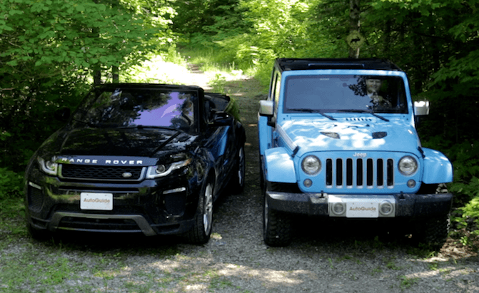 Jeep wrangler vs land rover