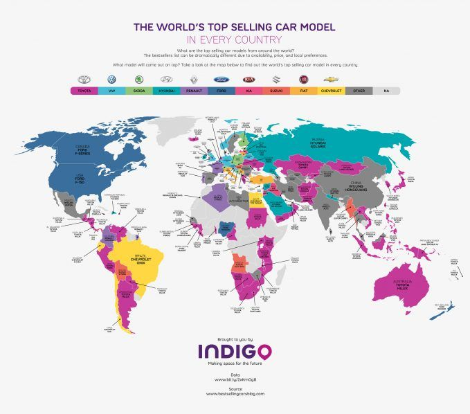 Here Are The Most Popular Cars In Every Country