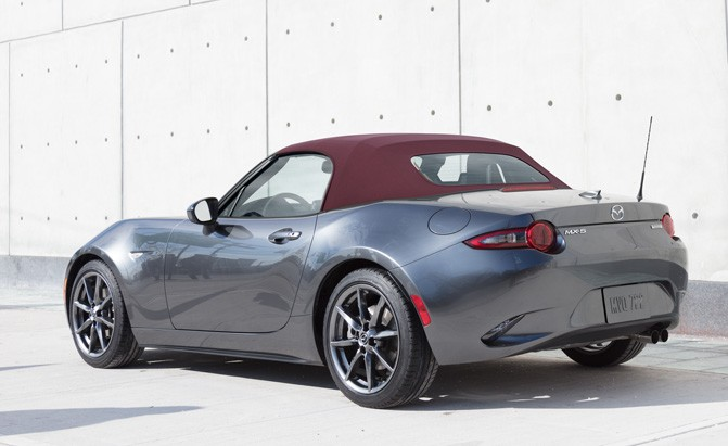 2018 mazda mx-5 miata dark cherry soft top