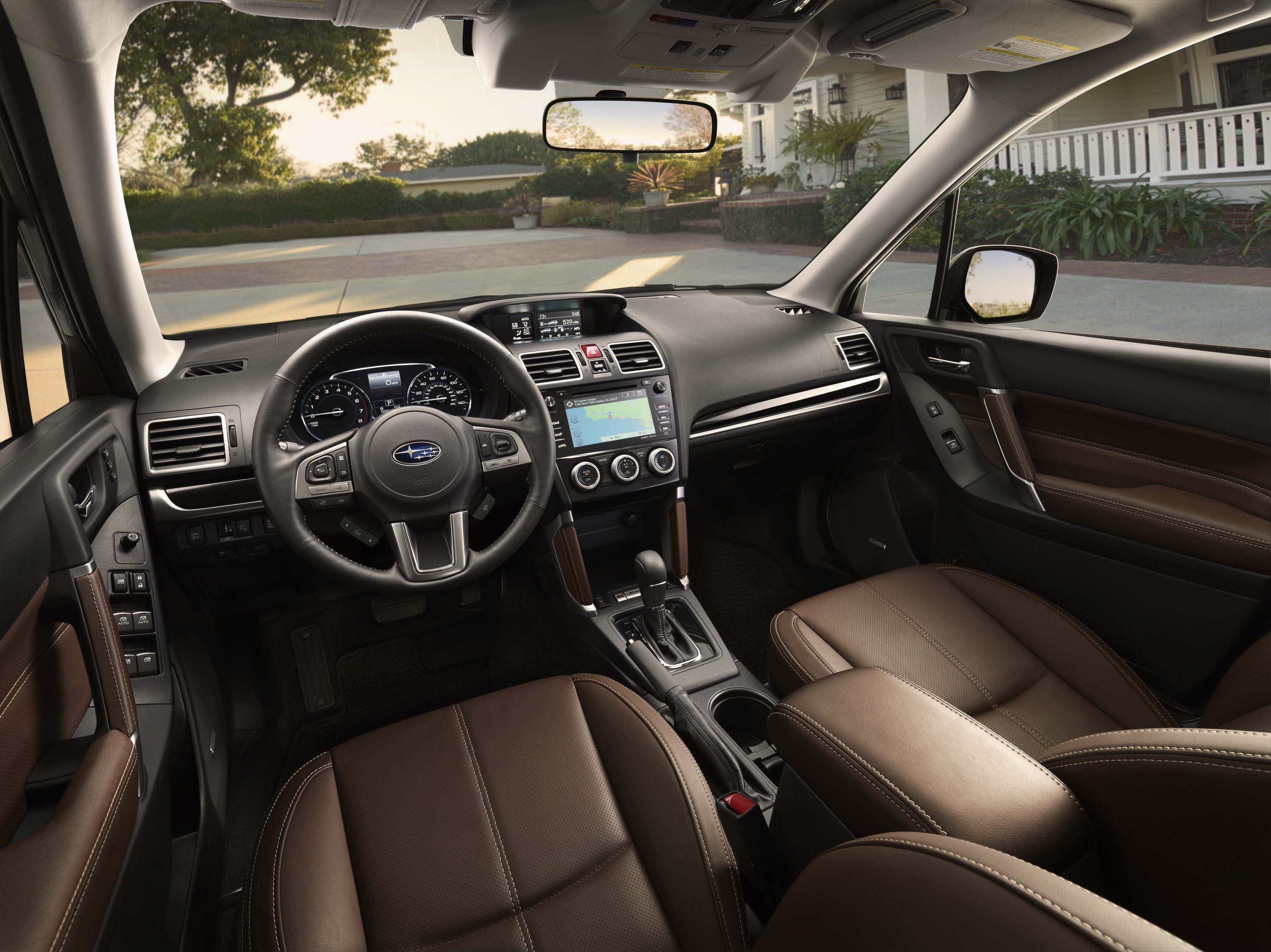 The Forrester Can Also Improve Its Cabin Which Look A Bit Basic In Terms Of Design I Was More Impressed With Brown Leather Upholstery Found