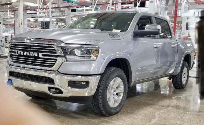 Leaked 2019 Ram 1500 Image Shows Off Truck S All New Front