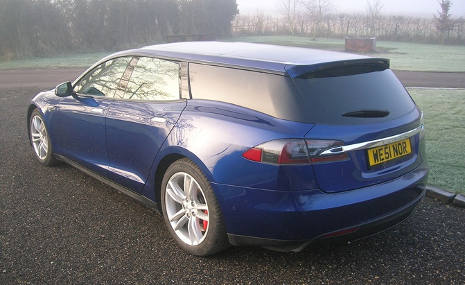 World's First Tesla Model S Wagon is Pretty Darn Ugly ...