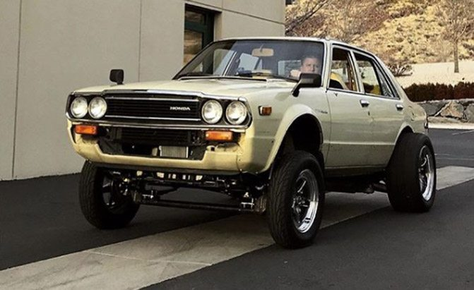 Someone Put a Tesla Electric Powertrain in an Old Honda ...
