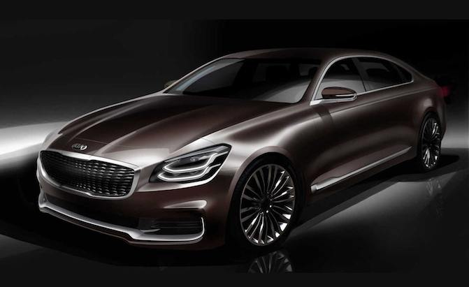 New Kia K900 Previewed In Official Design Sketch