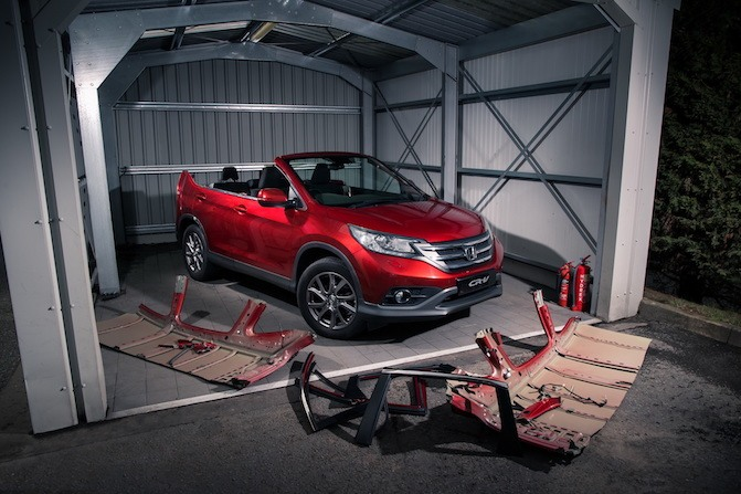 Luckily Honda Isnt Planning On Selling This Deathtrap Of A CR V Anytime Soon And Convertible The Cards For Production