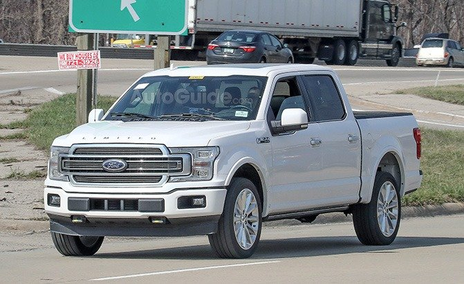 2019 ford f 150 limited spied with an updated rear end. Black Bedroom Furniture Sets. Home Design Ideas