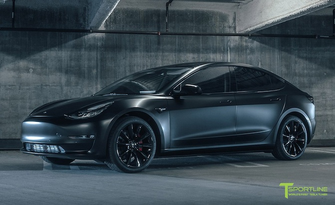 T Sportsline Tesla Model 3 Gets Cosmetic Mods 187 Autoguide