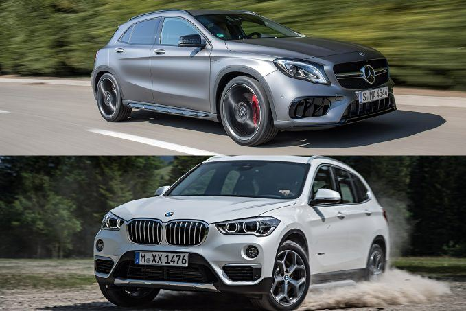 2018 mercedes-benz gla and bmw x1