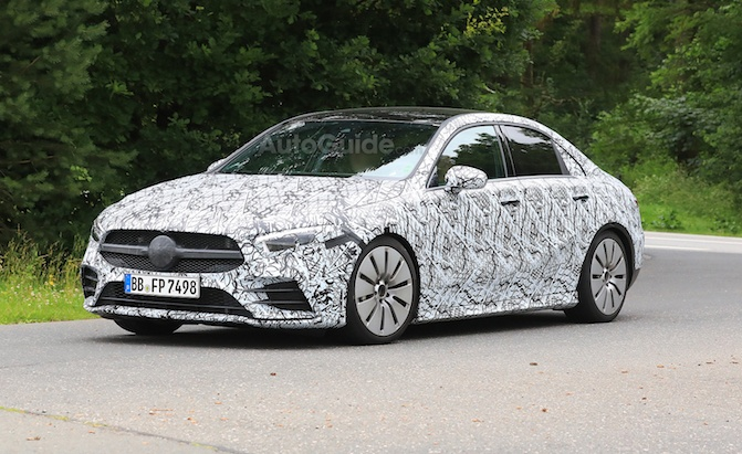 Your First Look at the Mercedes-AMG A35 Sedan for the US