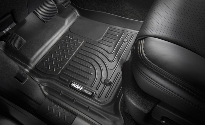 weathertech vs  husky liners floor mat comparison
