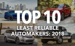 Top 10 Least Reliable Automakers: Consumer Reports 2018