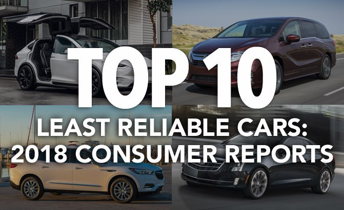 Top 10 Least Reliable Cars 2018 Consumer Reports