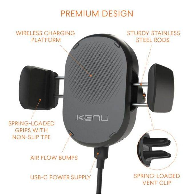 The folks at Kenu have created one of the best-quality and compact-sized phone mounts on the market: the Kenu Airframe wireless car mount.