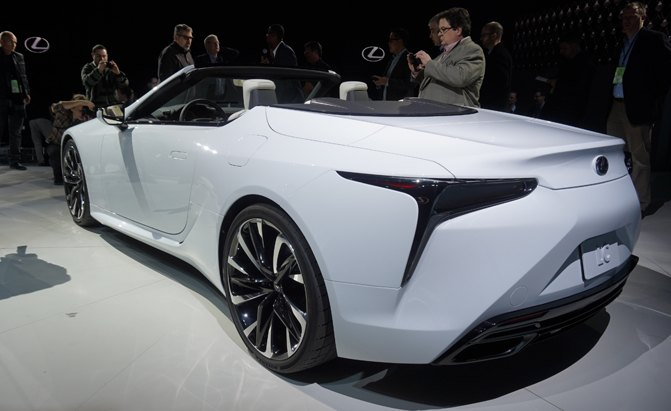 lexus lc convertible is only a concept for now autoguide. Black Bedroom Furniture Sets. Home Design Ideas