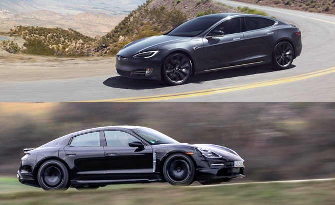 Porsche Taycan Vs Tesla Model S Which Ev Is Better Autoguide Com