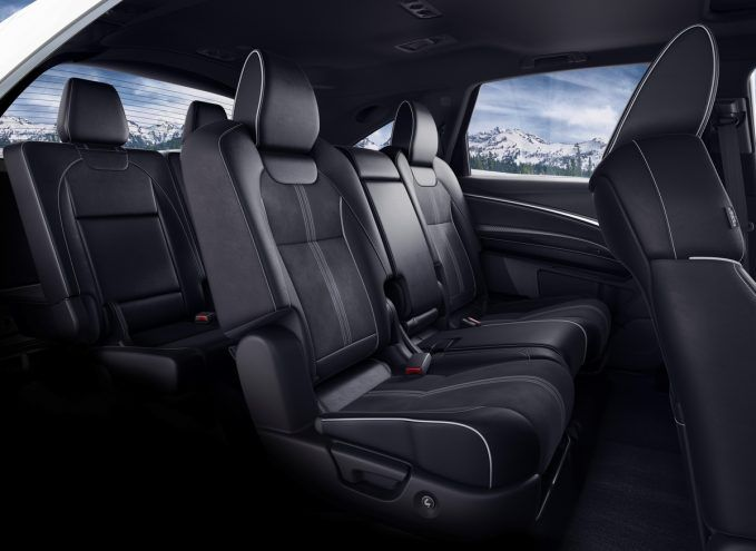 2019 Acura MDX A-Spec third row and seating