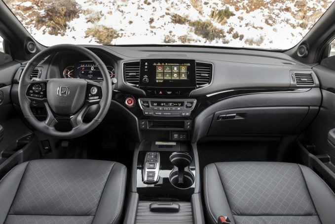 2019 Honda Passport dashboard