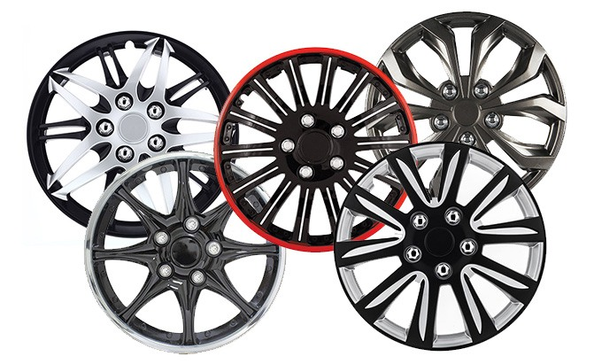 """Pack of 4 Silver Wheel Cover Replacement Hubcaps fits 16/"""" Tire /& Rims 10-Spoke"""