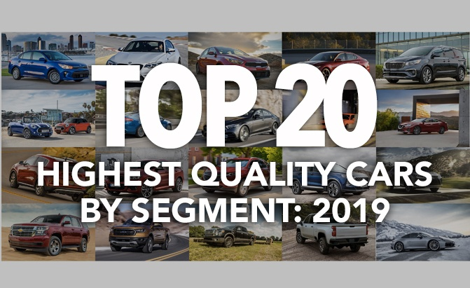Top 20 Highest Quality Cars by Segment: 2019