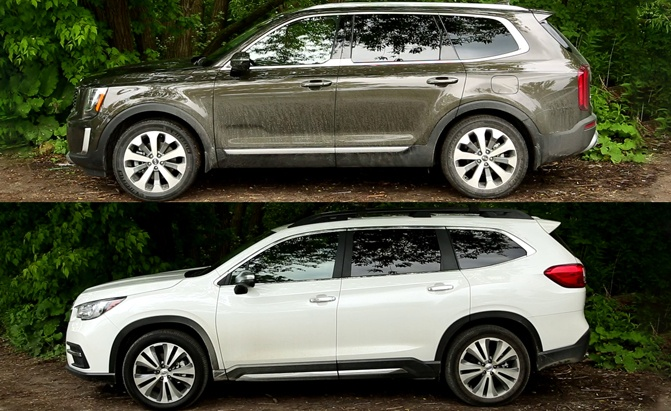 2020 Kia Telluride vs 2019 Subaru Ascent: Three-Row Throwdown