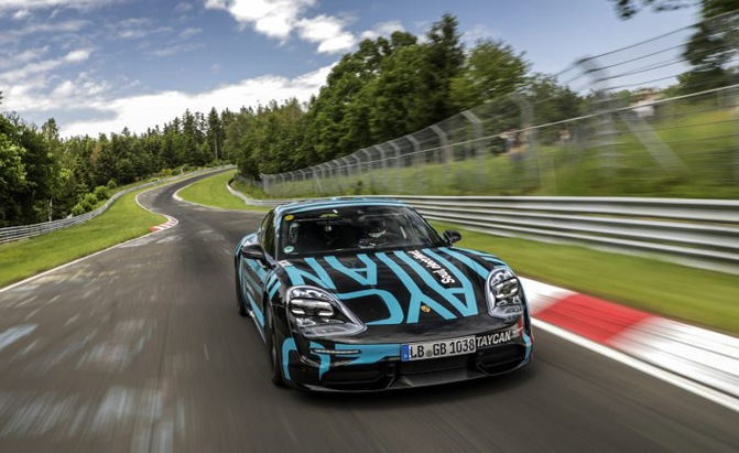Porsche Taycan Sets Four-Door EV 'Ring Record