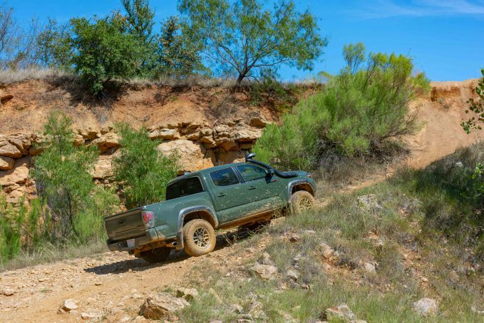 2020 Toyota Tacoma TRD Pro Army Green rear quarter