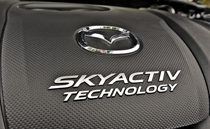 mazda skyactiv technology engine closeup