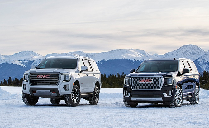 2021 gmc yukon revealed  blocky new looks and available at4 trim  u00bb autoguide com news