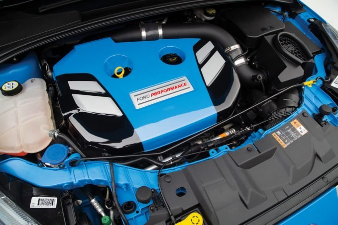 A look at the engine of the Ford Focus RS Dream Giveaway