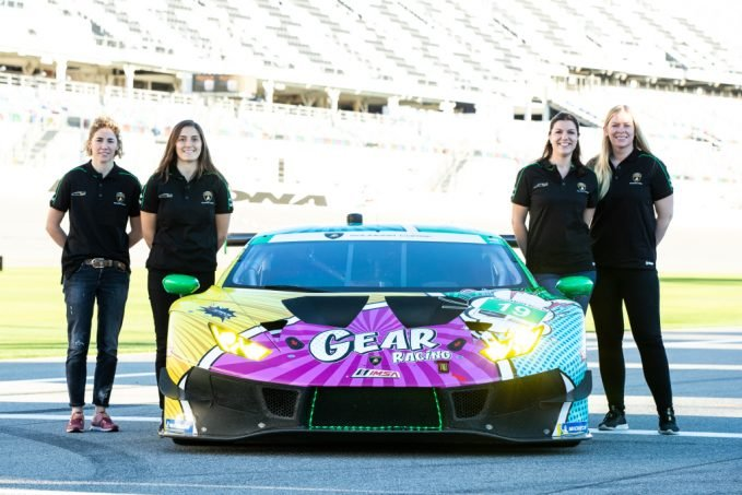 The all-female GEAR Racing team competes in the GTD class of the IMSA WeatherTech Sportscar Championship and the Michelin Endurance Cup.