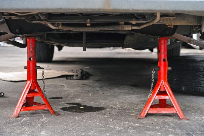 When it comes to DIY auto repair, remember: never hold a car up with just a jack. Always use a jack stand.