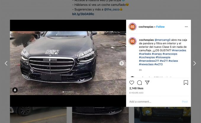 2021 Mercedes-Benz S-Class Caught Nearly Camo-Free