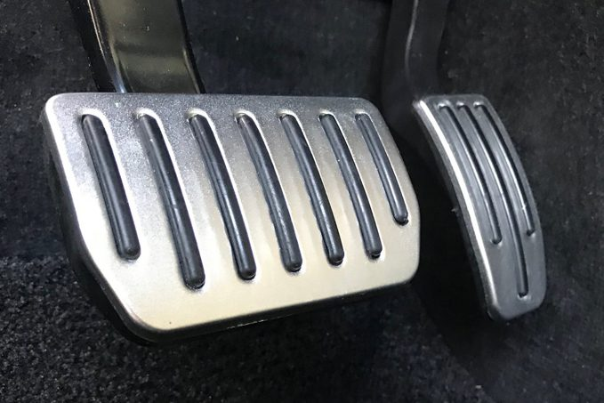 From the same folks who bought you the Model 3 pneumatic frunk lid strut kit: performance pedal covers.